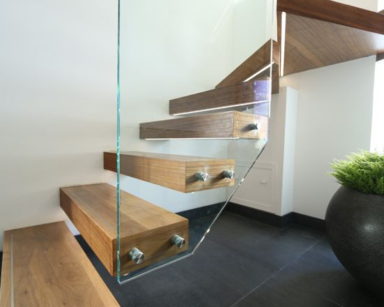 Glass And Wood Staircases   Railing London